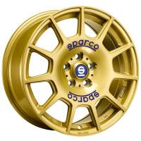 Sparco Terra Race Gold Blue Lettering