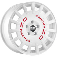 OZ Racing Rally Racing White Red Lettering